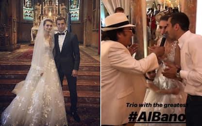 Mkhitaryan sposo, Al Bano canta per lui. VIDEO