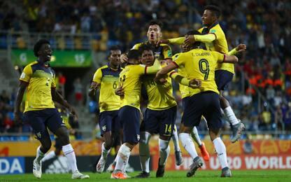 Mina-gol, vince l'Ecuador: Italia U20 chiude 4^