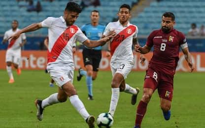 Copa America, Venezuela-Perù 0-0. Brasile primo