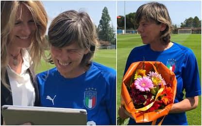 Compleanno con sorpresa per la ct Bertolini. VIDEO