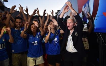 Italia, che festa al ritorno in ritiro! VIDEO