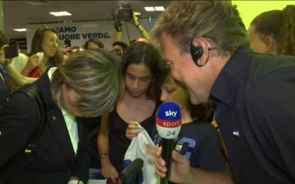 Italia a casa, quanto affetto a Fiumicino. VIDEO