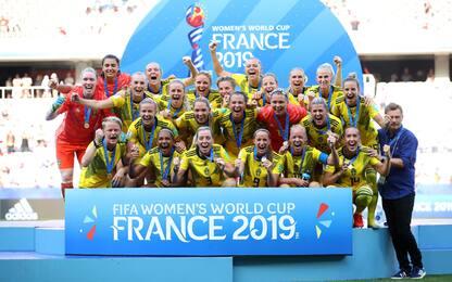 La Svezia chiude al 3° posto: Inghilterra ko 2-1
