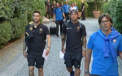 Ritiro Inter, Icardi e Radja in campo col gruppo