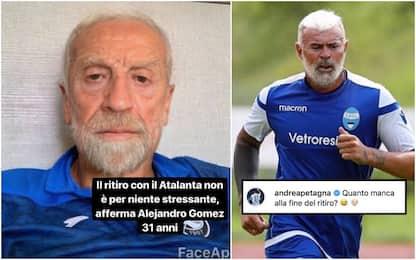 """Papu-Petagna vecchi sui social: """"Colpa del ritiro"""""""