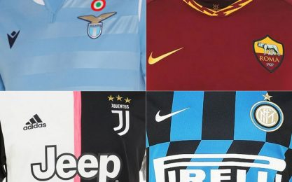Serie A, le prime maglie di tutte le squadre
