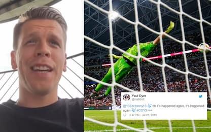 """La """"vendetta"""" dei tifosi del Tottenham su Szczesny"""