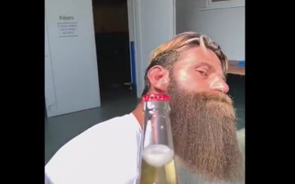 Bottle Cap, Moscardelli usa la barba! VIDEO