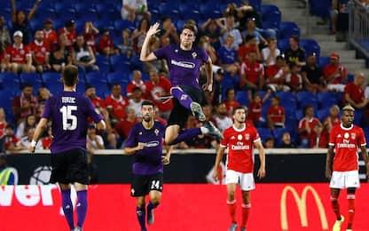 Beffa viola al 93' col Benfica, 45' per Chiesa