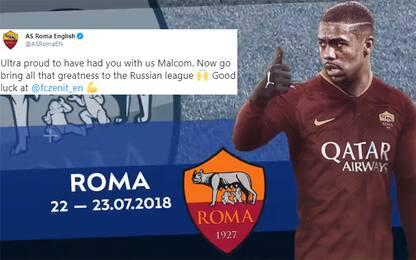 Lo Zenit presenta Malcom: sfottò alla Roma. VIDEO