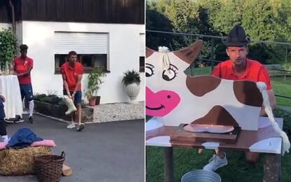 "Stivali e ""mucche"": Müller show col Bayern. VIDEO"