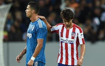 Felix incanta, Juve sfortunata: Atletico vince 2-1