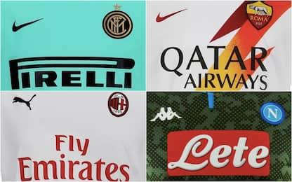 Serie A, le seconde maglie di tutte le squadre