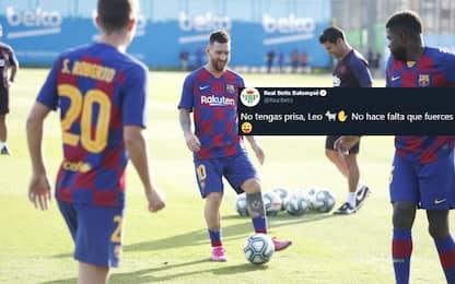 """Messi recupera, il Betis scherza: """"Nessuna fretta"""""""