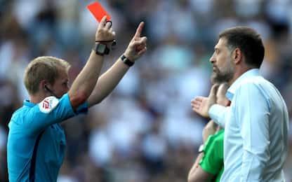 Nuove regole, Bilic è il primo allenatore espulso