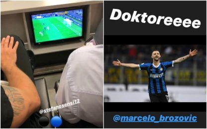 Sensi e Brozovic in gol, Perisic esulta. VIDEO