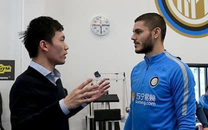 Zhang incontra Icardi: è muro contro muro