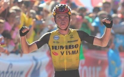 Vuelta, 15^ tappa: vince Kuss, Roglic maglia rossa