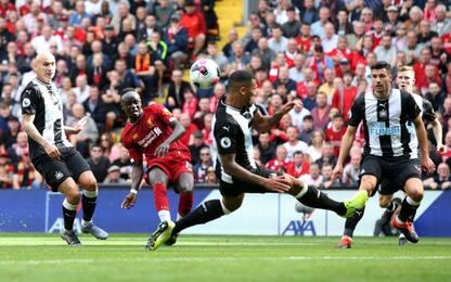 Mané-Salah, il Liverpool rimonta il Newcastle: 3-1