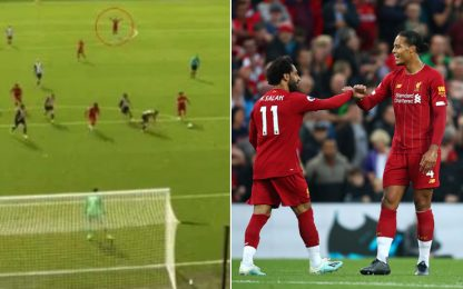 Van Dijk veggente: esulta prima dei gol di Salah!