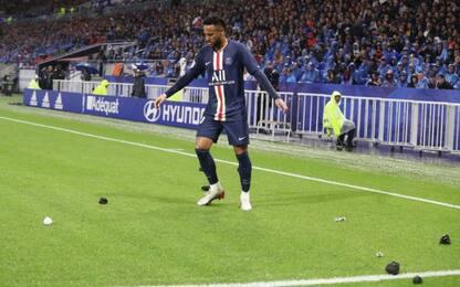 Neymar si riprende il Psg, battuti Lione e tifosi