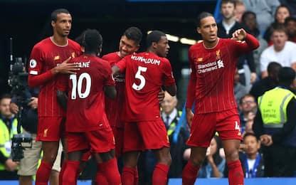 Liverpool 6 su 6: 2-1 al Chelsea e +5 sul City