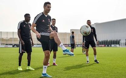 Juve, Cristiano Ronaldo torna in gruppo