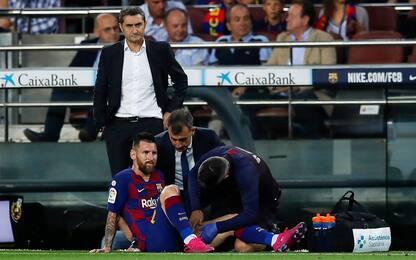 """Messi salta Barça-Inter? Valverde: """"Non è grave"""""""