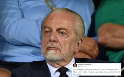 """De Laurentiis alla carica: """"Rialziamoci subito!"""""""