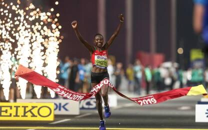 Maratona donne: oro Chepngetich nel caldo di Doha