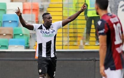L'Udinese torna a vincere: col Bologna Okaka-gol