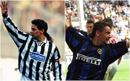Da Baggio a Vieri, i doppi ex di Inter e Juve