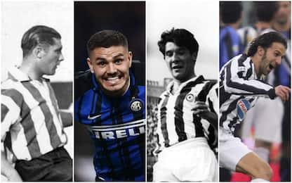 Da Meazza a Del Piero, i goleador di Inter-Juve