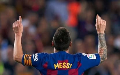 Il Barcellona travolge il Siviglia, pari Atletico