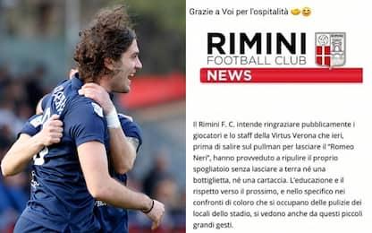 Applausi Virtus Verona: pulito spogliatoio Rimini