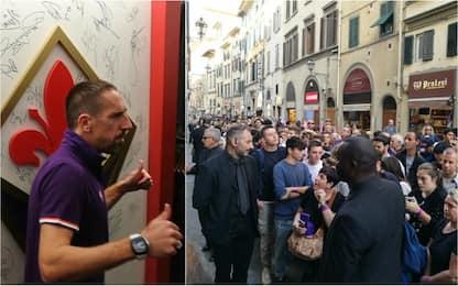 Fiorentina, che entusiasmo per Ribery: 500 tifosi