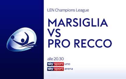 Marsiglia-Pro Recco, alle 20.30 in vasca su Sky