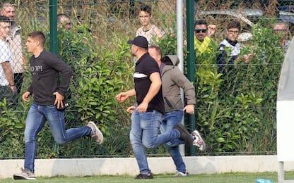 Invasione e caos: sospesa Brescia-Vojvodina. FOTO