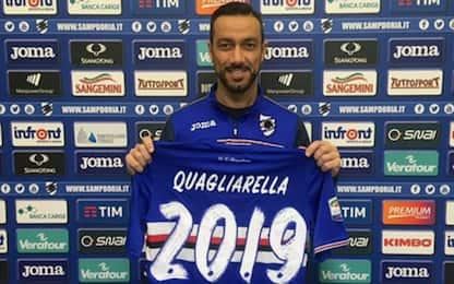 Sampdoria, Quagliarella rinnova fino al 2019