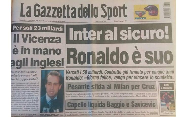 Ronaldo All Inter 20 Anni Fa Che Fenomeno Sky Sport