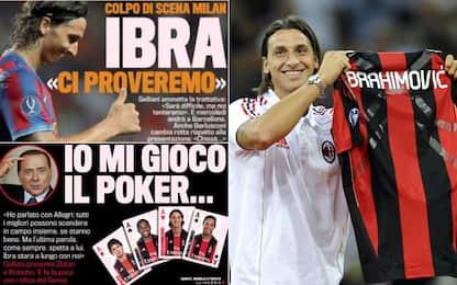 Mercatonovela: Ibra al Milan con bluff (2010)
