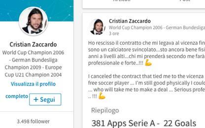 Zaccardo free agent: cerca squadra su LinkedIn