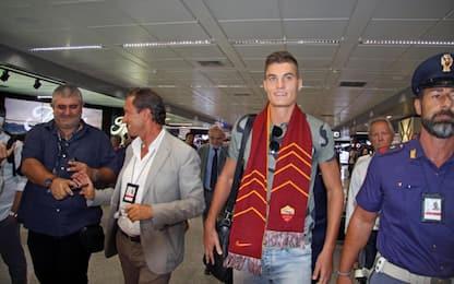Schick è arrivato Roma, bagno di folla a Fiumicino