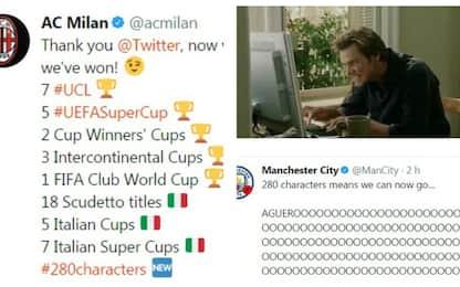 Twitter a #280, gioia 'Gladbach. E il Milan...