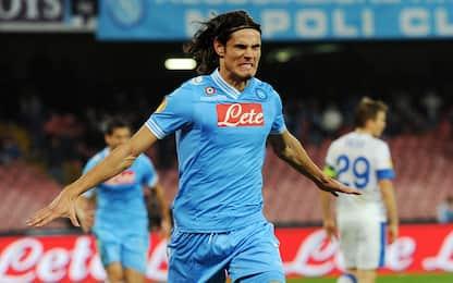"""Napoli-Dnipro 5 anni fa, Cavani diventa """"mostro"""""""