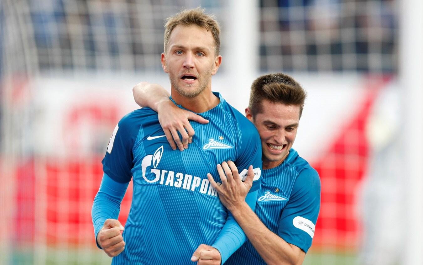 Il giocatore dello Zenit Criscito, foto Getty
