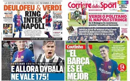 Duello Napoli-Inter sul mercato: rassegna stampa