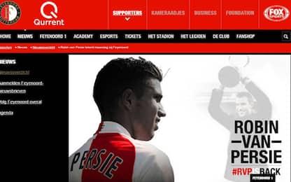 RVP torna a casa: lunedì firma con il Feyenoord