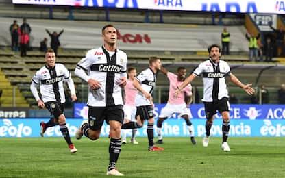 Tripletta di Calaiò, Parma-Palermo 3-2