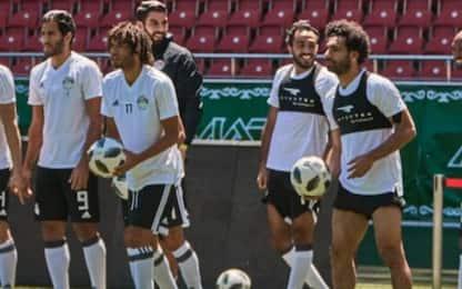 Salah si allena, contro l'Uruguay può esserci
